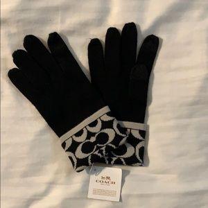 Coach Woven Gloves